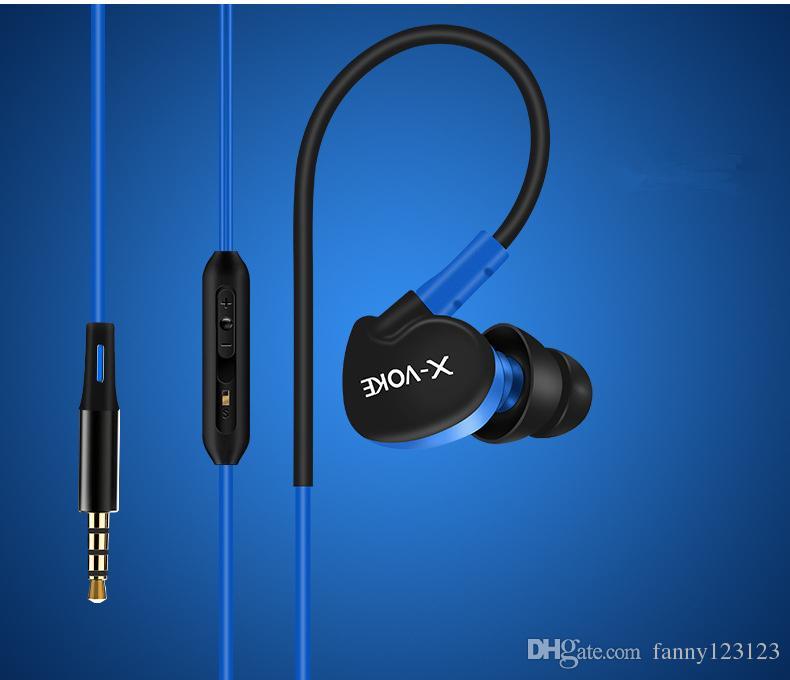 Auriculares con micrófono en la oreja Auriculares con micrófono de 3,5 mm sin ruido en la oreja Para Apple iPhone Samsung etc. para envío gratis