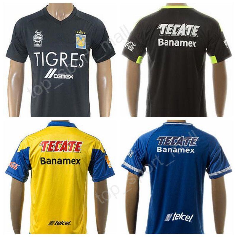 0b1578fe04991 2019 17 18 Mexico Nuevo Leon Tigres UANL Jersey Soccer 10 Andre Pierre  Gignac Football Shirt Thai Custom 11 Damian Ariel Alvarez 18 Ismael Sosa  From ...