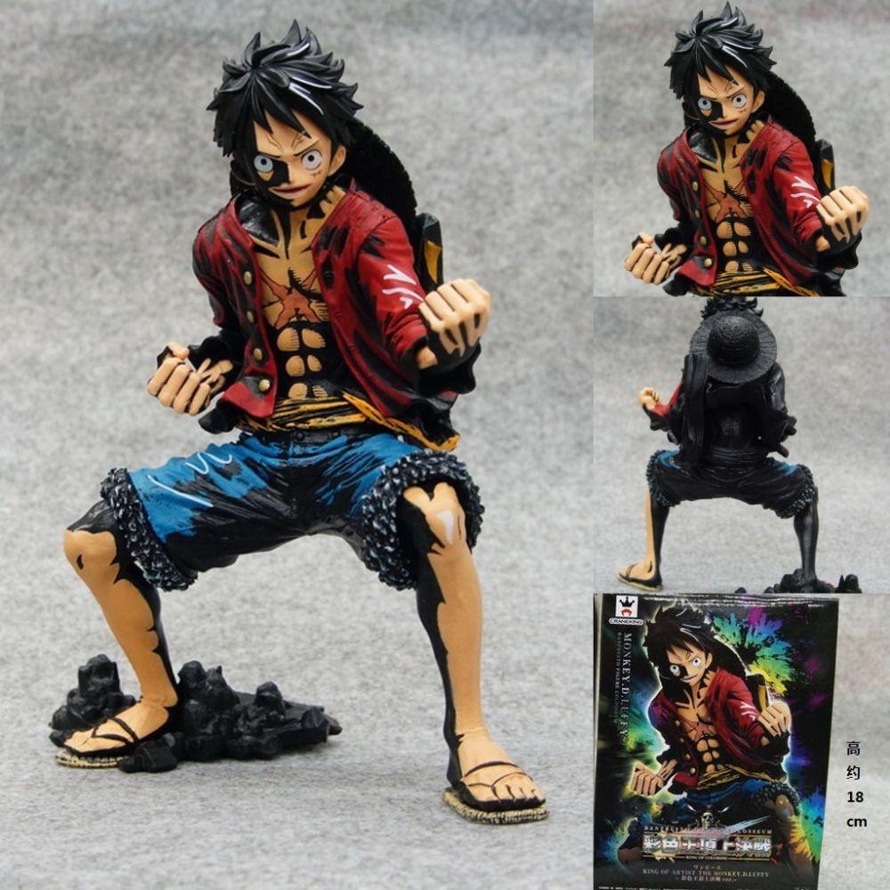 Anime & Manga Anime One Piece Heroes Monkey•D•Luffy 18cm PVC Action Figure No Box Boys Toy