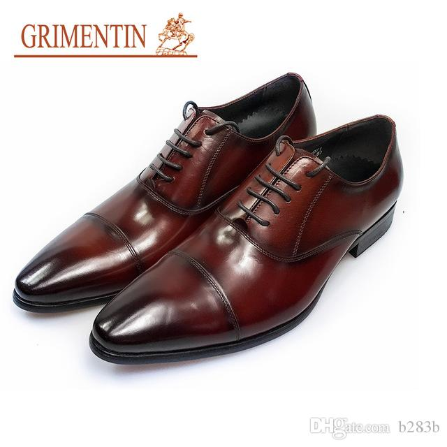 Shoes Prom 2019 Stud Brogue Rivet Wingtip Men Shoes Casual Leather Oxfords Patent Dress Party Metal Cheap Pointed Toe Large Size 46 Formal Shoes