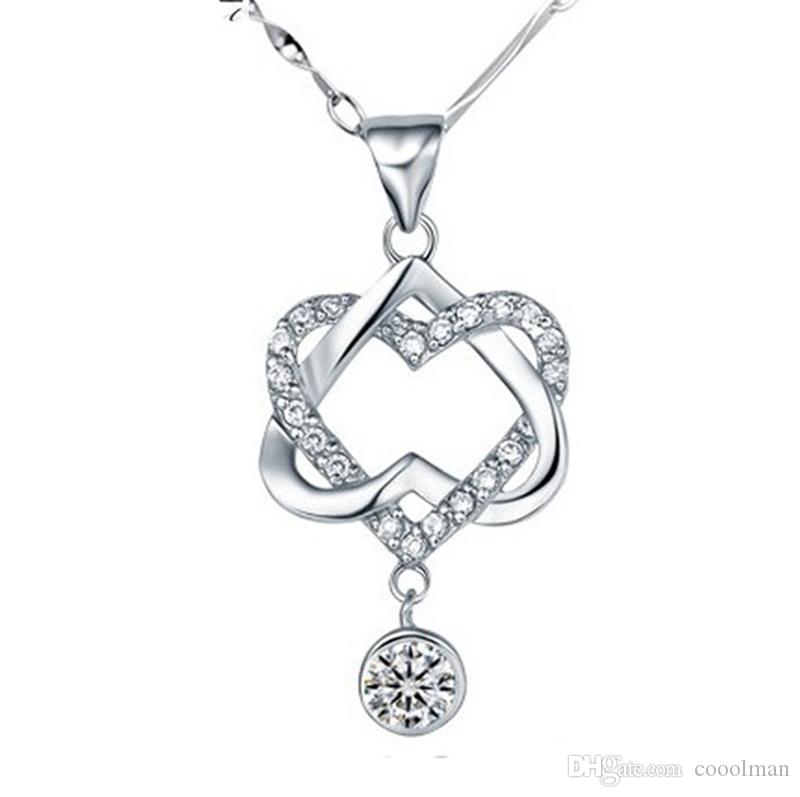 necklace resmode ct t hei tw p forevermine op sharpen double wid heart diamond w pendant