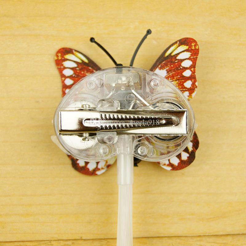 LED flash mariposa trenza fiesta concierto llevó Accesorios para el cabello Accesorios de Navidad para Halloween Juguetes LED C2444