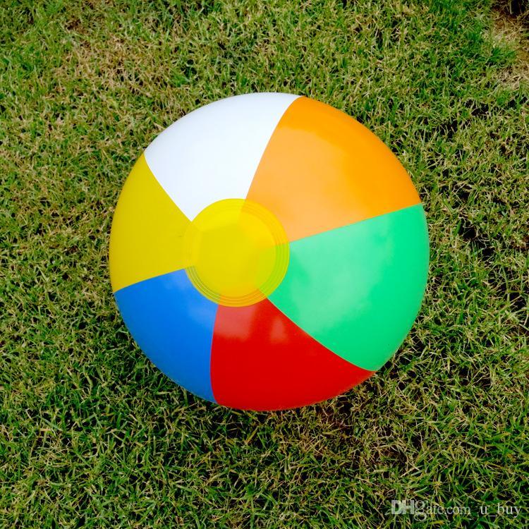 23 سنتيمتر نفخ الشاطئ الكرة متعدد الألوان في الهواء الطلق كرة الشاطئ كرة الماء بالون المياه اللعب أفضل ألعاب الصيف للأطفال