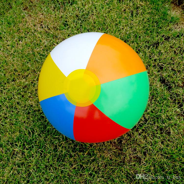 23cm Inflatable Beach Ball Multi-colour Outdoor Beach Ball Water Sports Balloon Water Toys Best Summer Toys For Children