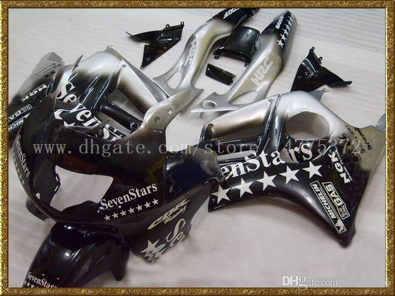 Black 7star Kit carenatura Honda CBR600F3 97-98 CBR600 F3 1997 1998 CBR 600 F3 97 98 carene # r83u4 spedizione gratuita