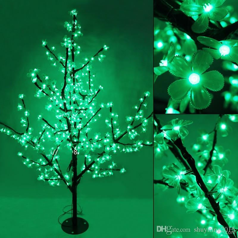 1.5 m / 5ft altezza albero di Natale artificiale all'aperto LED Cherry Blossom Tree Light 1150pcs LED dritto tronco d'albero Spedizione gratuita LED Light Tre