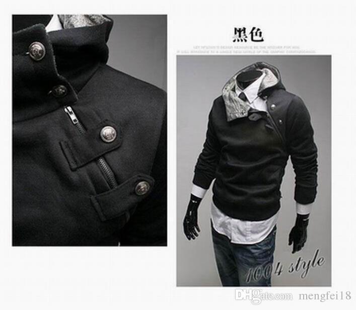 Livraison gratuite - nouveaux assassins à capuchon en laine polaire assassins creded style manteau à la mode masculine noir M - 3 xl