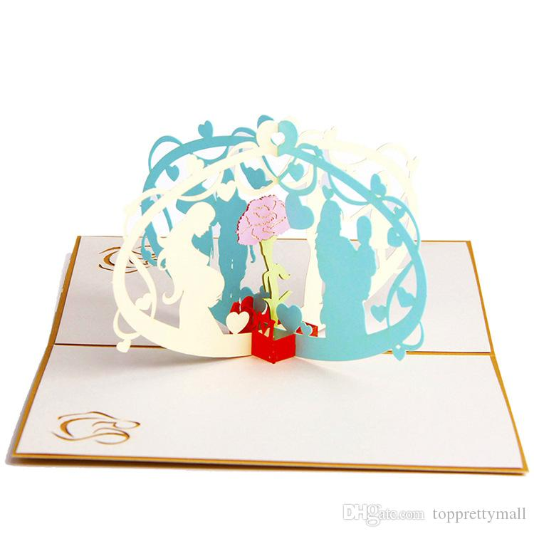 Creative Greeting Cards Mother Day I Love Mom Card For Festival High
