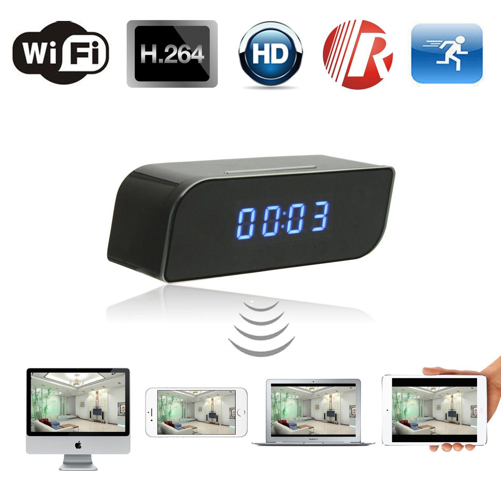 1080p Hd Wifi Network Hidden Camera Clock Indoor Motion Activated