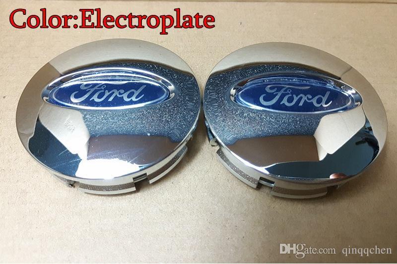 Ford Kenar Explorer için Tekerlek Hub Merkezi Cap Tekerlek Vaka Amblem 66mm Elektrolizle Kapakları / Gümüş / Siyah 4 ADET / TAKıM