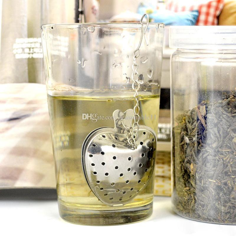 """Convenience Heart Tea Infuser """"Tea Time"""" Heart-Shaped Stainless Herbal Tea Strainers Infuser Spoon Filter Long Handle"""