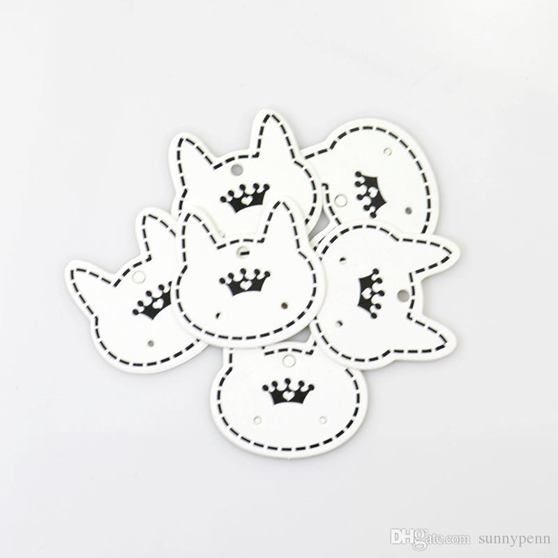 Toptan 500 adet / grup Moda Takı Ekran Ambalaj Kartı, sevimli Kedi Şekli Kağıt Kart Küpe Ambalaj Için Uygun Ücretsiz Kargo