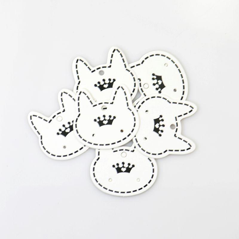 Wholesale Schmucksache-Anzeigen-Verpackungs-Karte der Art- und Weise/ nette Katzen-Form-Papierkarten-Sitz für den Ohrring, der freies Verschiffen verpackt