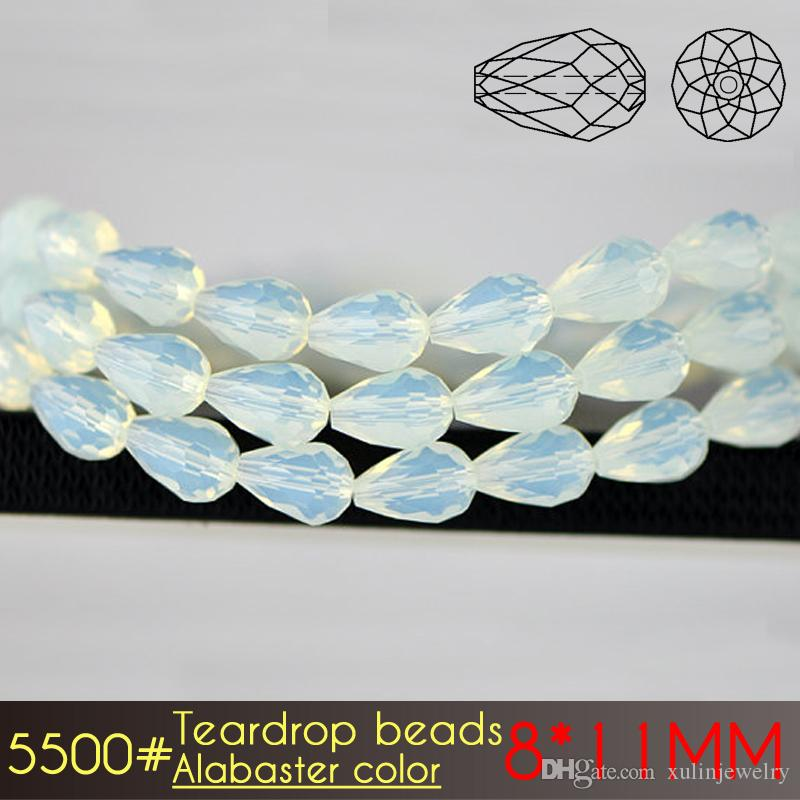 Alabaster Colors Series Crystal AAA Quality 8x11mm Teardrop Crystal ... cb6f4f380749