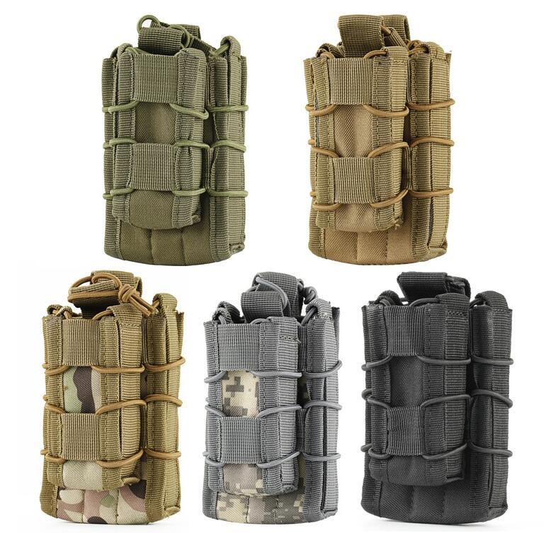 2017 EDC MOLLE Tactical Open Top Double Decker Single Rifle Pistol Mag Pouch Magazine Bag,Outdoor Camping hiking Waist Bag Tool Pouch