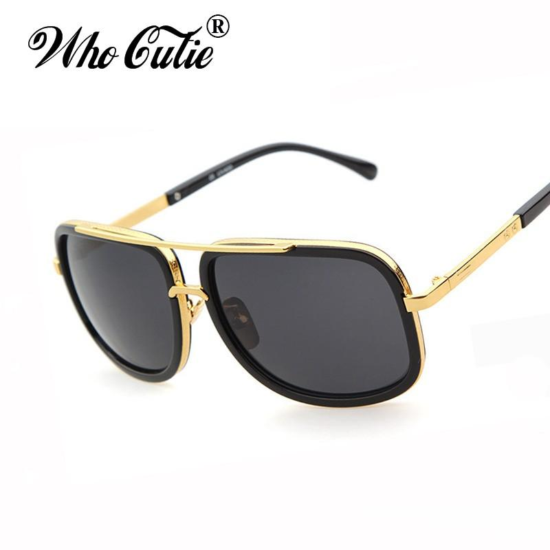 0cbd6d42dde Who Cutie 18K Gold Mach One Sunglasses Superstar Adam Lambert Vintage Brand  Designer Sun Glasses Shades Men Women Oculos OM233 Super Sunglasses  Victoria ...