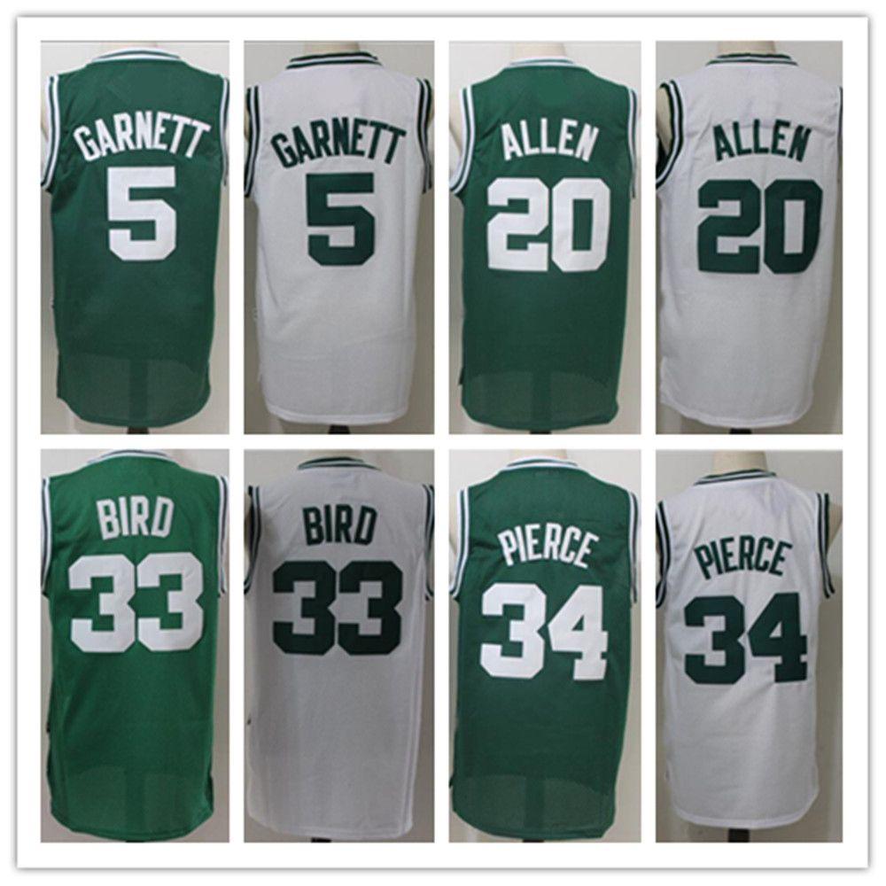 fc4200322 ... NBA Jersey 20 Mens Stitched 5 Kevin Garnett 20 Ray Allen 33 Larry Bird  34 Paul Pierce Throwback GreenWhite Ray Allen Home Jersey