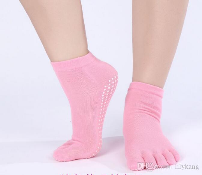 sport Yoga calze antiscivolo Pilates Calze ciclismo femminile hking caviglia esterna calzini di esercitazione di ginnastica antiscivolo fare jogging calze in esecuzione