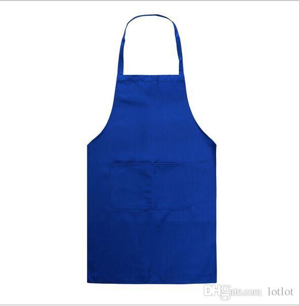 Popular nuevo sin mangas simple ajustable simple delantal con bolsillo delantero carnicero camareros cocineros cocina artesanía