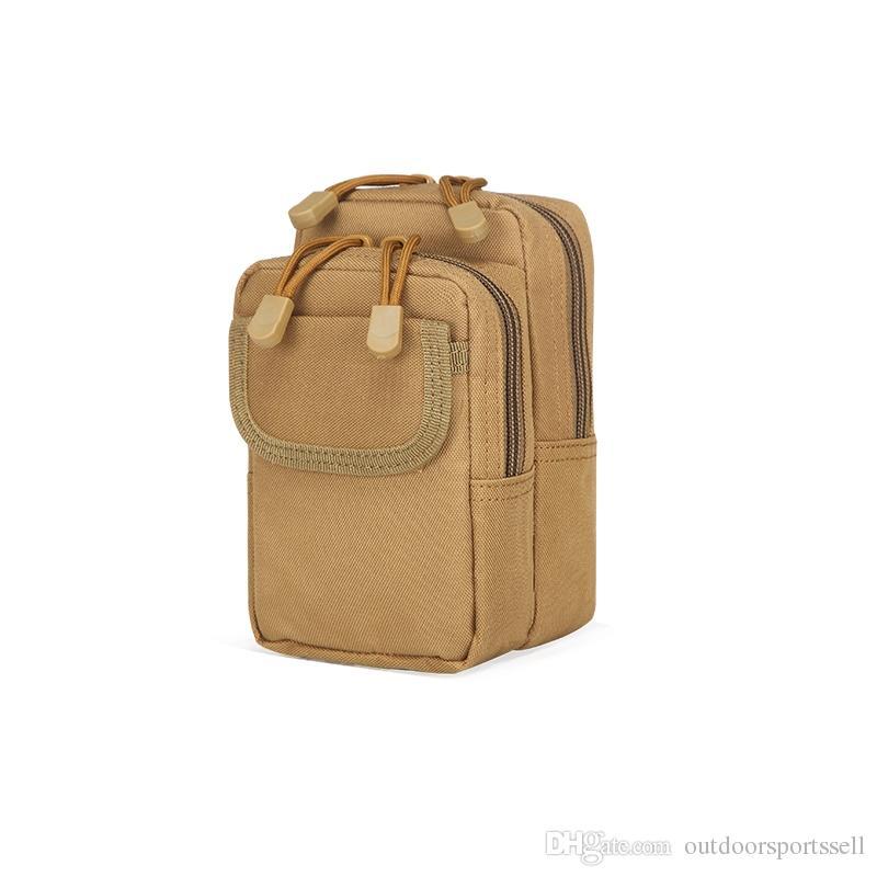 Tactical Pockets Outdoors Sports bags 2018 Tactical package waistpacks Belt Pockets Belt Wallets 6 inch Mobile Pockets X2 waistpacks