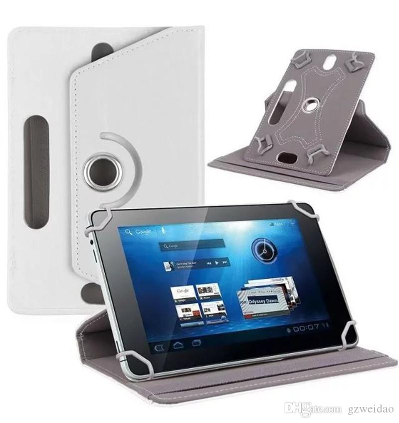 360 Rotation universelle Etui en cuir pour 7 8 9 10 pouces Tablet PC MID PSP iPad Tablet Pad Réglable en cuir Flip Cover Case