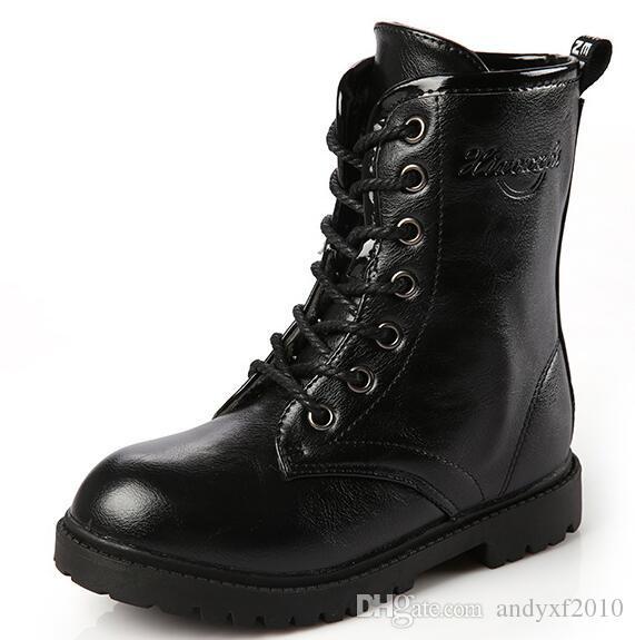 2016 Nouvelles Bottes De Neige Enfants Garçons Bottes Hautes Couleurs Noires Bottes D'hiver Chaussures Enfants Chaussures Filles Chaussures Simples