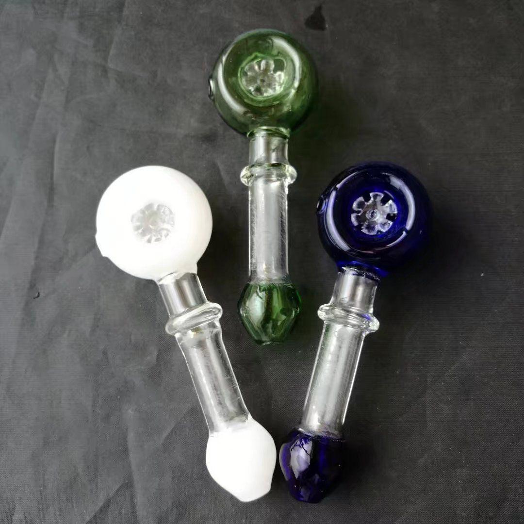 Снежинка кусочки табака горшки стеклянные бонги аксессуары, красочные трубы для курения изогнутые стеклянные трубы масляная горелка трубы водопровод Dab Rig Gla