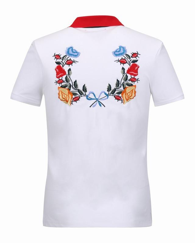2018 2017 luxury brand men polo shirts summer flower for High end men s shirts