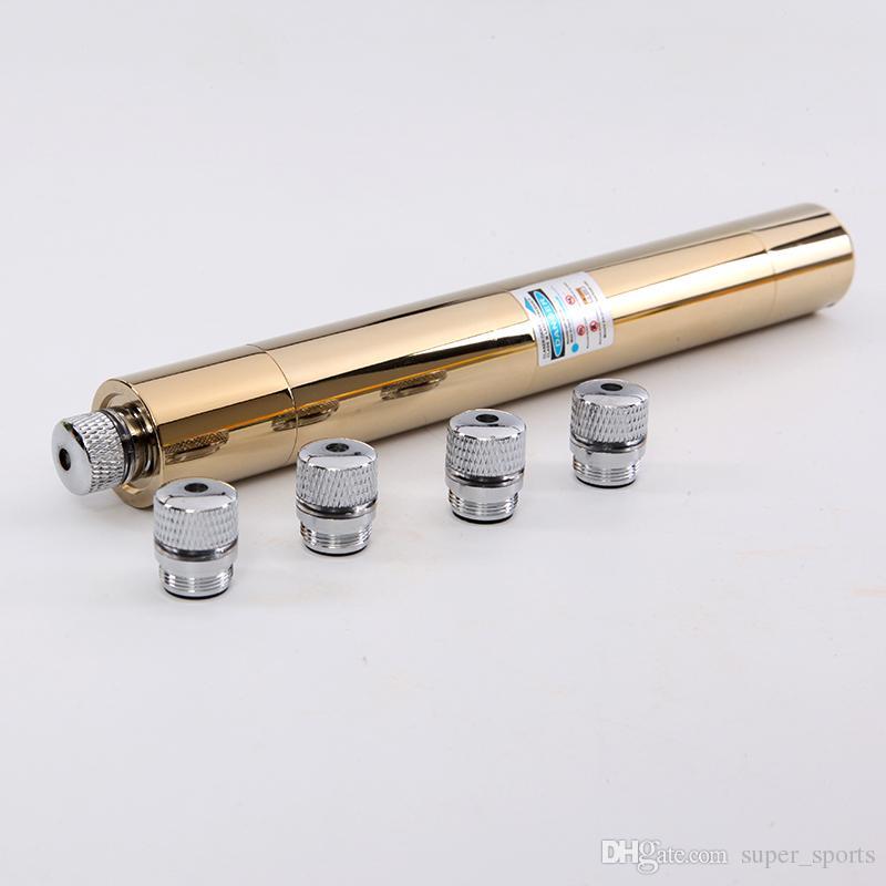 445nm 450nm blauer Laser-Zeiger-Stift-hoher leistungsfähiger gravieren Holz sichtbarer Strahl blaue Laser-Taschenlampe + 5 Sternkappen freies Verschiffen