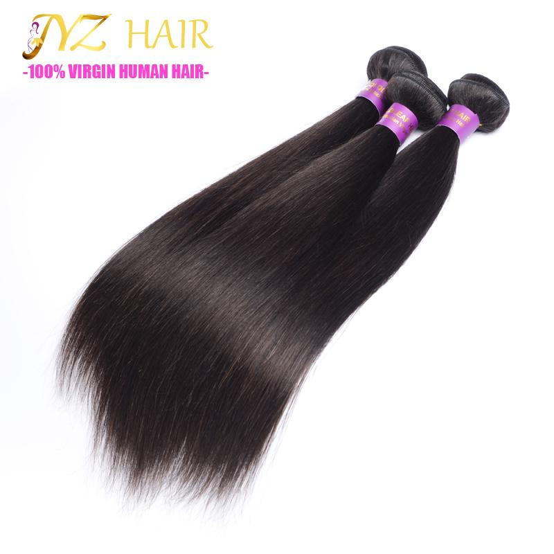 JYZ Peruvian Virgin Hair Straight With Closure 13x4 Lace Frontal Closure With Bundles Human Hair Bundles With Frontal Closure