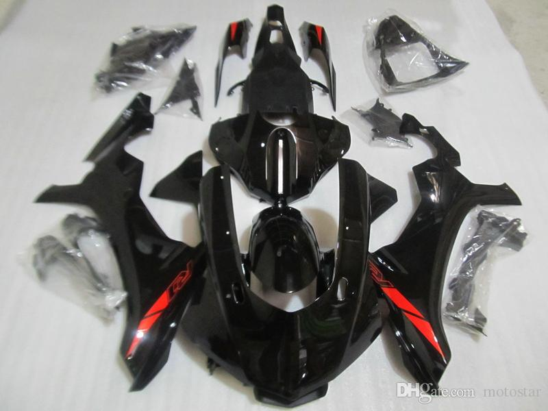 100% fit for Yamaha injection mold fairings YZF R1 09 10 11-14 glossy black fairings set YZF R1 2009-2014 OY30