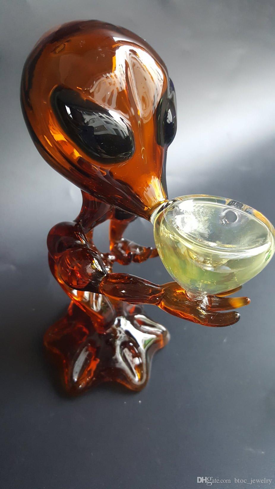 Green G Spot Tubi di vetro alieno Tubi di vetro fumanti vetro gorgogliatori G88 giallo