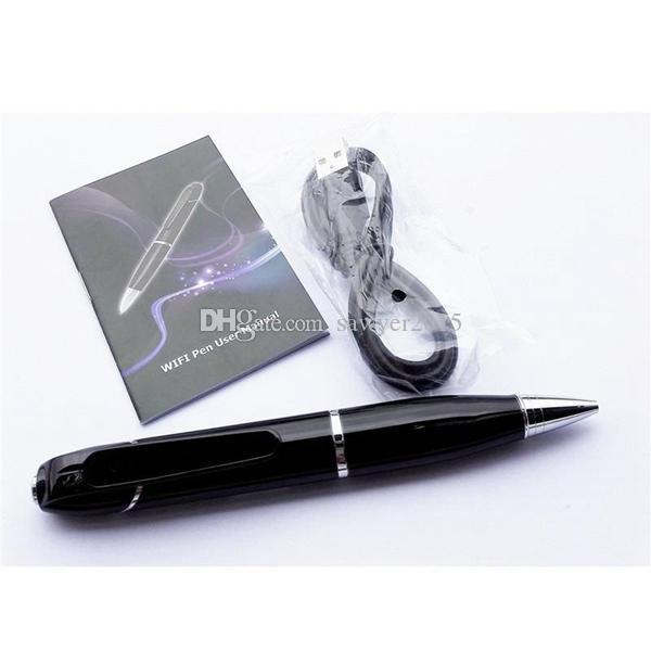 HD 720P WIFI MINI Pen Camera Wireless H.264 MINI PEN pinhole camera Digital Audio Video Recorder Pen Camcorder in retail box