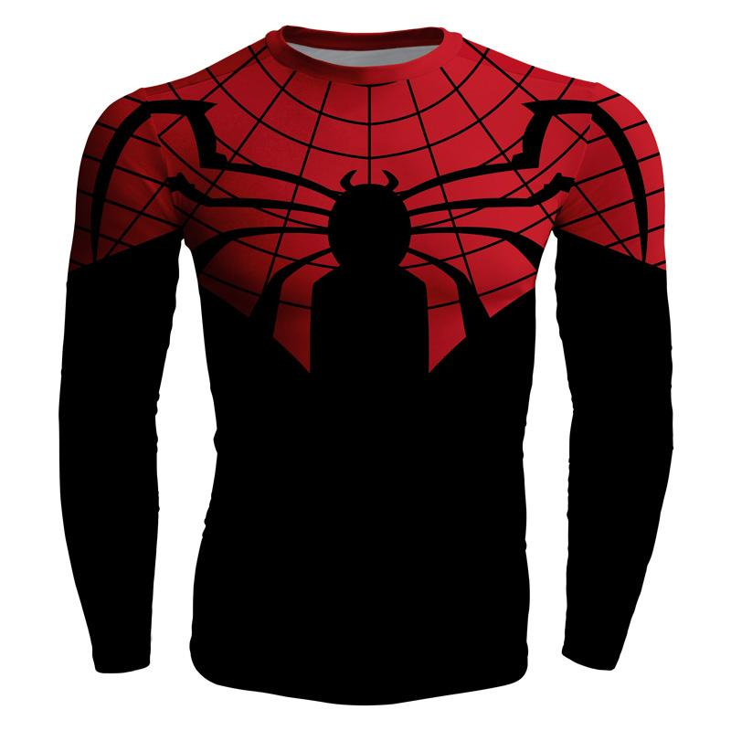Long Sleeve 3d Compression T Shirt Spiderman Cosplay Men Superhero ...
