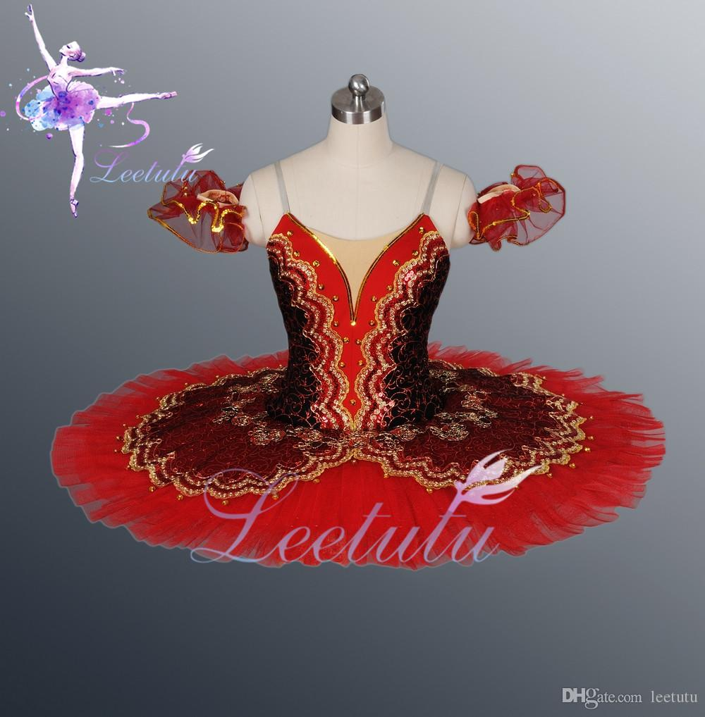 Hot sale Adult Ballerina Dresses Red Professional classical Ballet Tutu for big theatre performace,