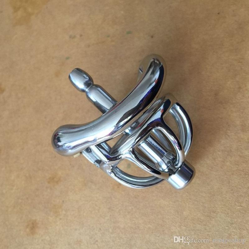 Yeni Stil 42mm tam boy Paslanmaz Çelik Süper Küçük Erkek Iffet Cihaz Kısa Horoz Kafes İçin Erkekler BDSM