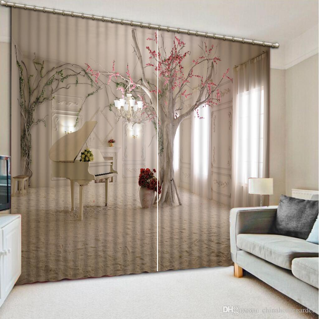 Grey curtains living room - Photo Customize Size 3dc White And Grey Custom Curtain Fashion Decor Home Decoration For Bedroom