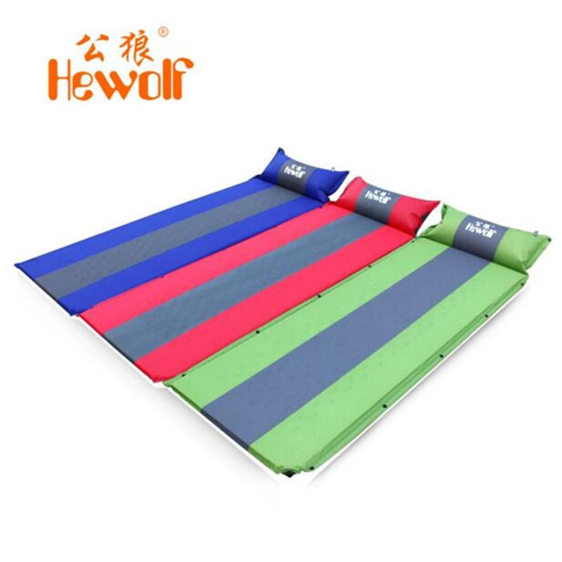 Wholesale Hewolf Outdoor Camping Mat Beach Waterproof Cushions Inflatable  Air Mattress Sleeping Pad With Pillow Picnic Blanket Patio Cushions  Contemporary ...