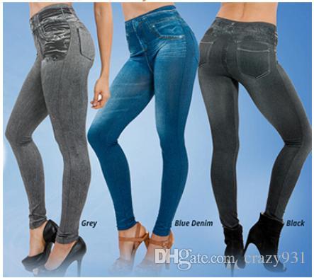 79d2da8c07 2019 Wholesale Plus Size Seamless Legging True Pocket Jeggings Denim  Leggings Seamless Fuzz Bunched Leggings Denim Pants From Crazy931, $9.05 |  DHgate.Com