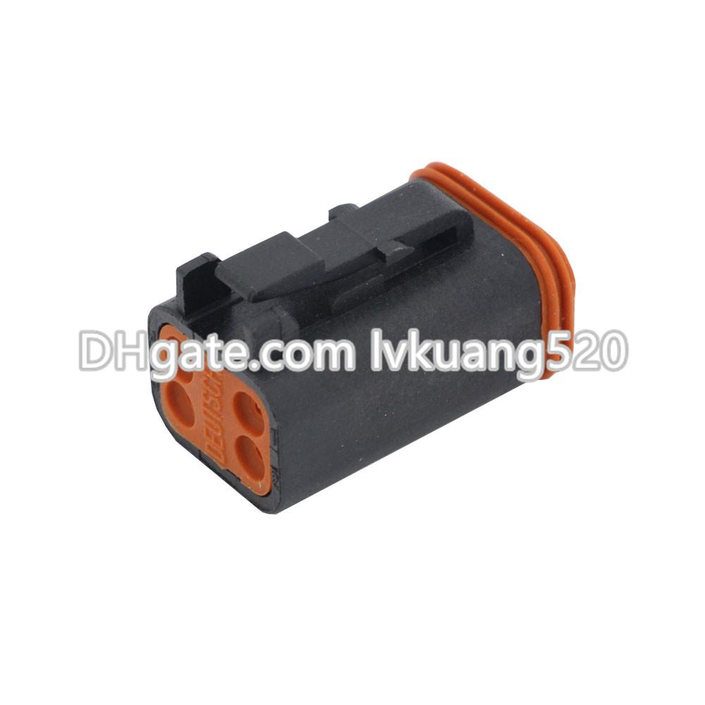Black 4 Pin DT04-4P/DT06-4S Automobile waterproof wire electrical Deutsch Connector plug