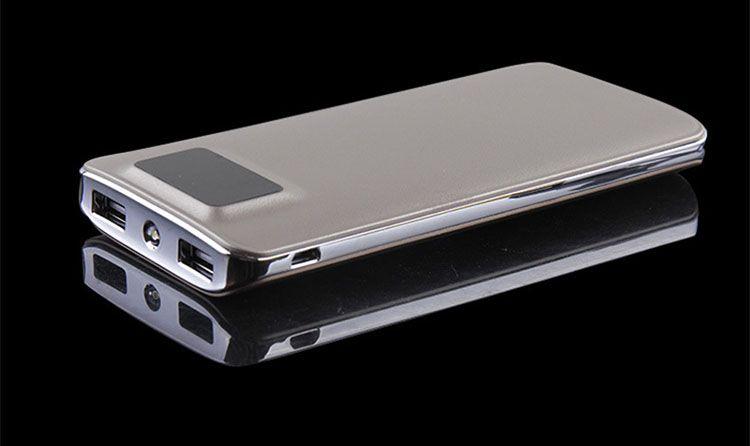 power bank with emergency flashlight digital display 2 USB output fashionable design Customizable LOGO