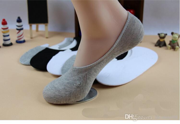 Wholesale free shipping Hot Unisex Men Women Low Cut Ankle Socks Casual Soft Cotton sock Loafer Boat Non-Slip Invisible 3 Colo