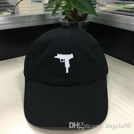 c3bdbdf29ba New 2017 Uzi Gun Dad Hat Snapback Hat American Fashion UZI Baseball Cap Hip  Hop Streetwear Curve Brimmed 6 Panels Cartoon Packing Casquette Caps Lids  From ...