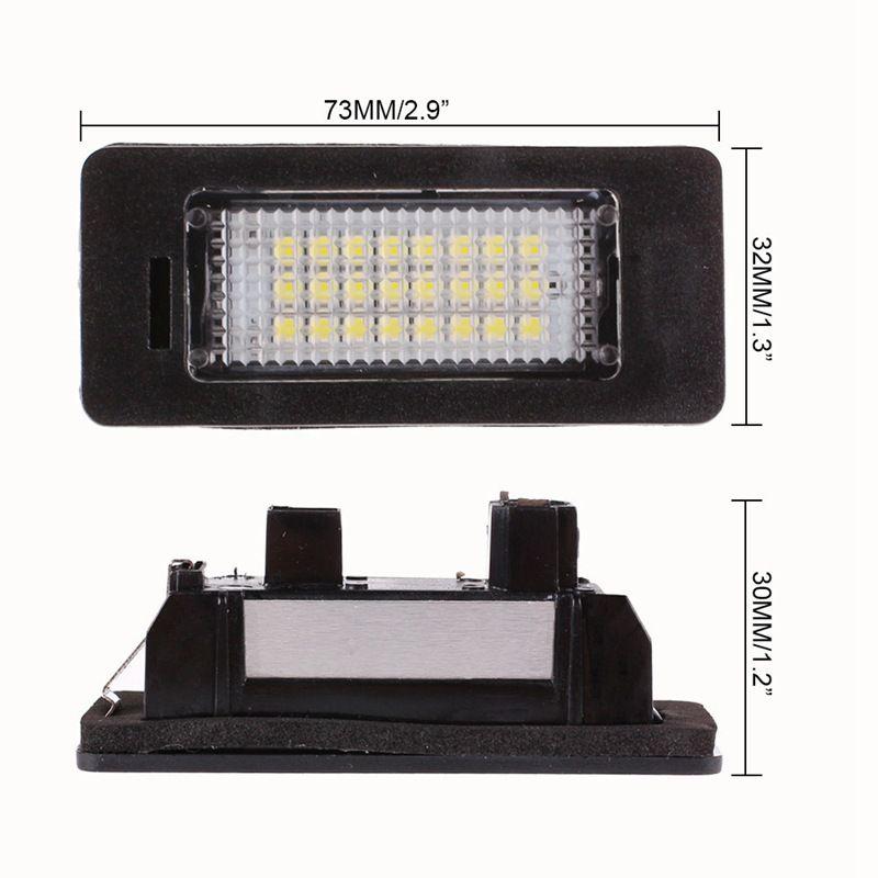 2 adet / grup 12 V Beyaz 6000 K LED Plaka Işık Numarası Alience Lamba BMW E60 E82 E90 E92 E93 M3 E39 E60 E70 X5 E39 E60 E61 M5