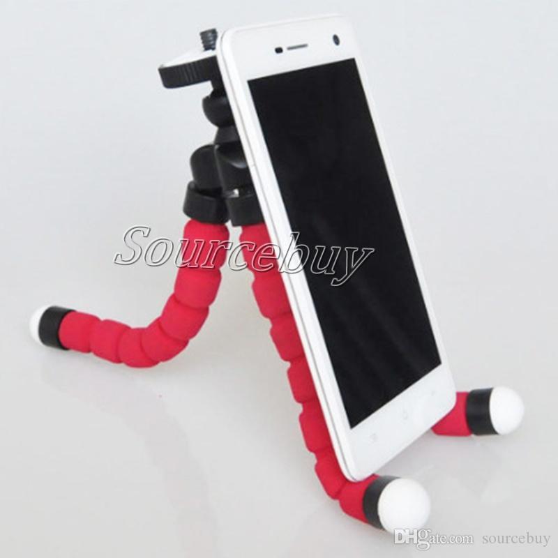Support de poulpe Octopus trépied réglable téléphone portable universel avec Clip Mount Adapter 360 Rotation pour iPhone Smartphone Caméra Tablet