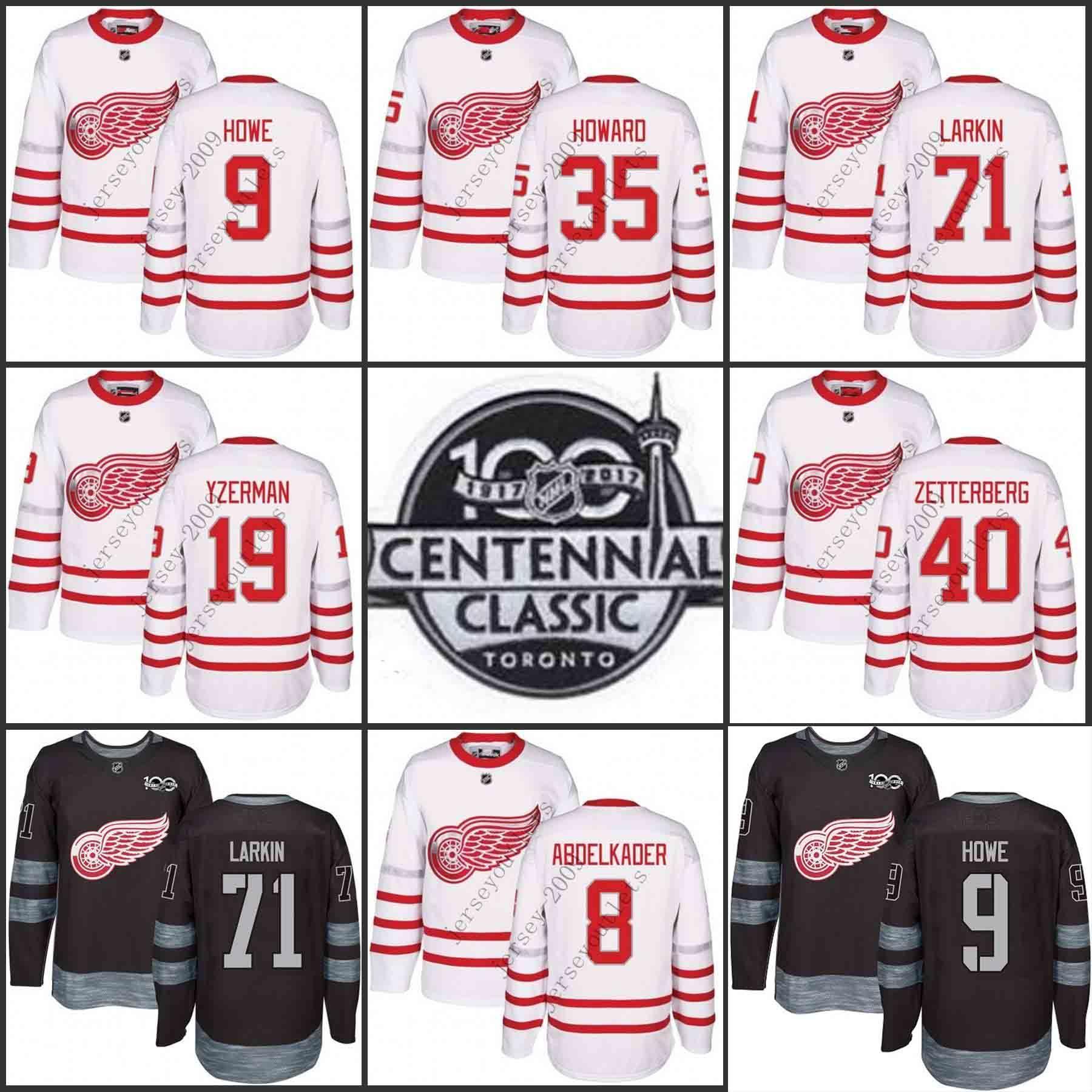 238a847d8 ... shirt f187e 1a542 uk 2019 2017 centennial classic 100th anniversary  detroit red wings 71 dylan larkin 9 gordie howe ...