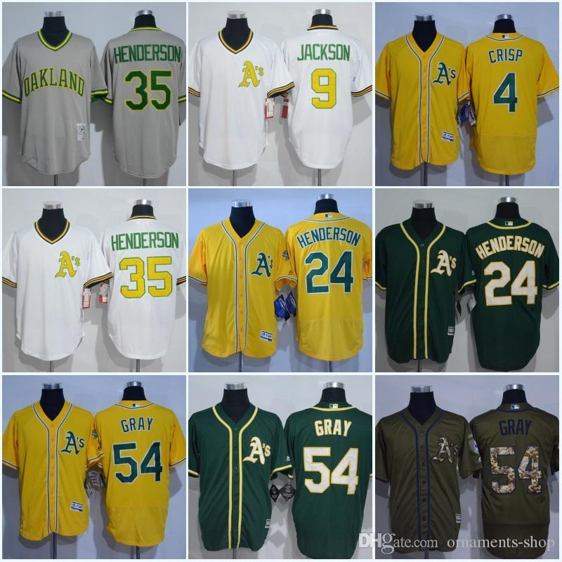8d1238c8d ... 2017 Men Oakland Athletics Jersey 4 Coco Crisp 9 Reggie Jackson 2435  Rickey Henderson 54 Sonny ...