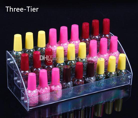 3 Tiers New Promotion Makeup Cosmetic Display Stand Clear Acrylic ...