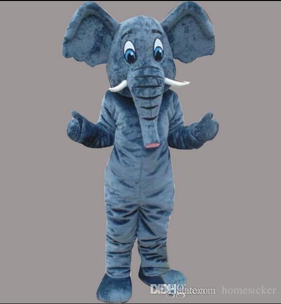 Usine vente directe de haute qualité matériel EVA Casque drop shipping Le costume de mascotte éléphant