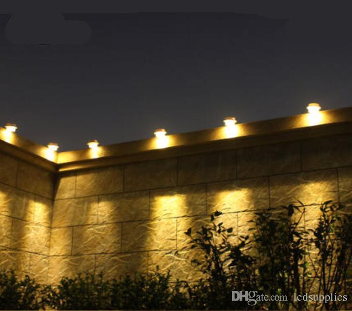 Lampade Solari Da Esterno A Led Luci Da Giardino Mini Balcone Lampada Da Parete Pilastro Del Tetto